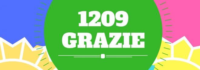 1209 GRAZIE!